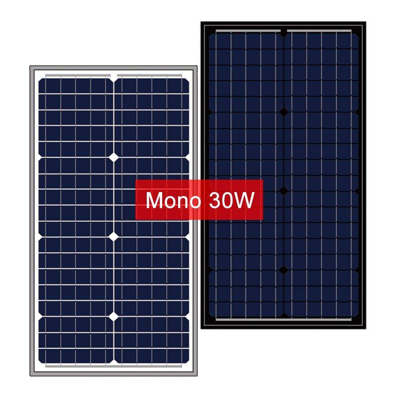 12V 30W Solar Module, Small Mono Solar Panel