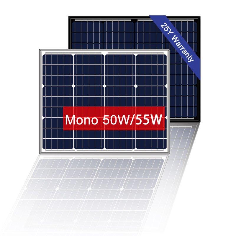 12V 50W Mono Solar Panel, Solar Panels For Boats