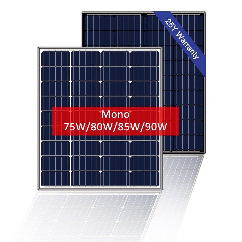 Mono Solar Panel 80W, RV Solar Power