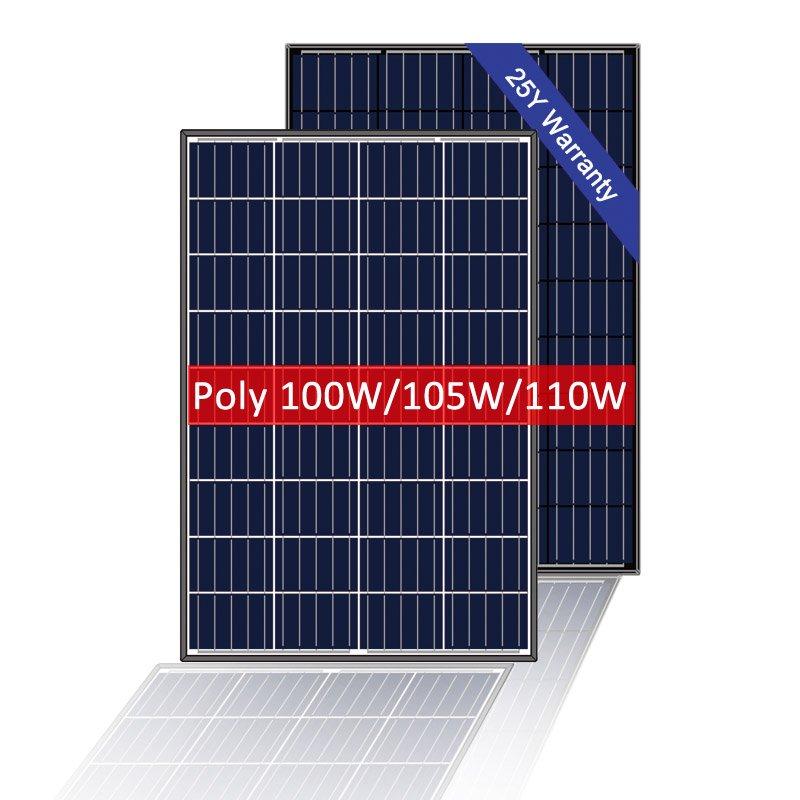 12V 100 Watt Poly Solar Panel, RV Solar Module