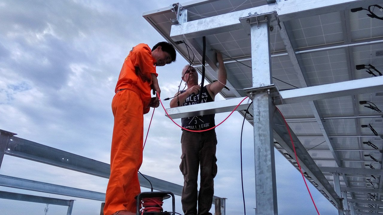 solar power system installation site