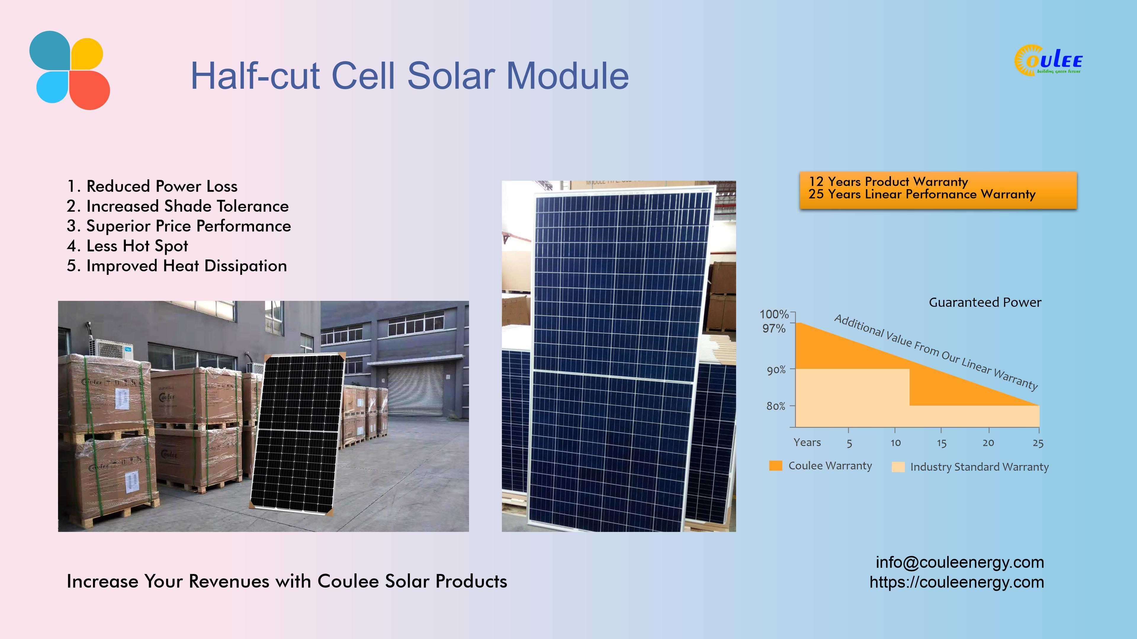 Half Cut Cell Solar Module, Half-cut Cell Mono PERC Solar Panel