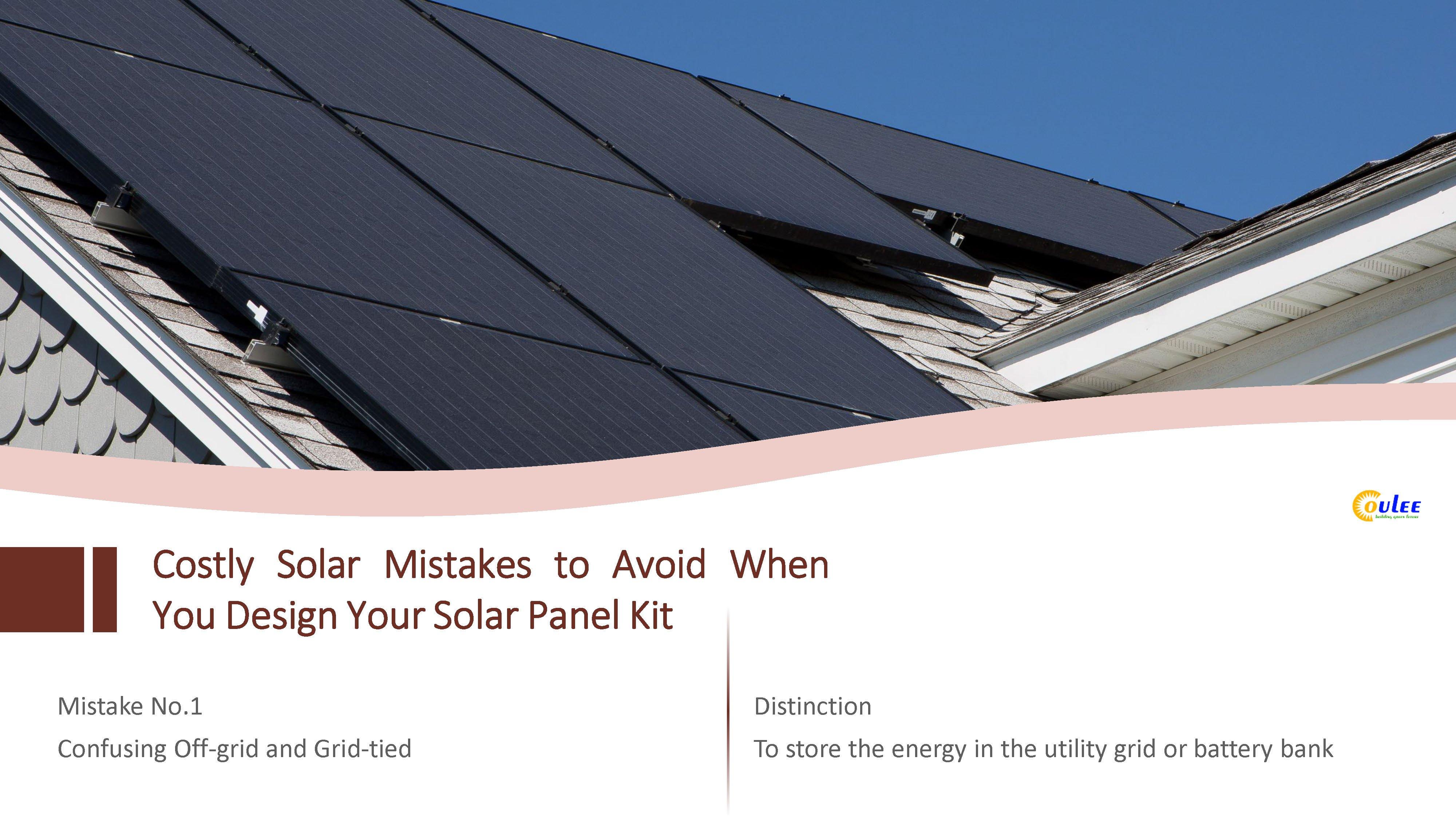 Off-grid solar system, on-grid solar system