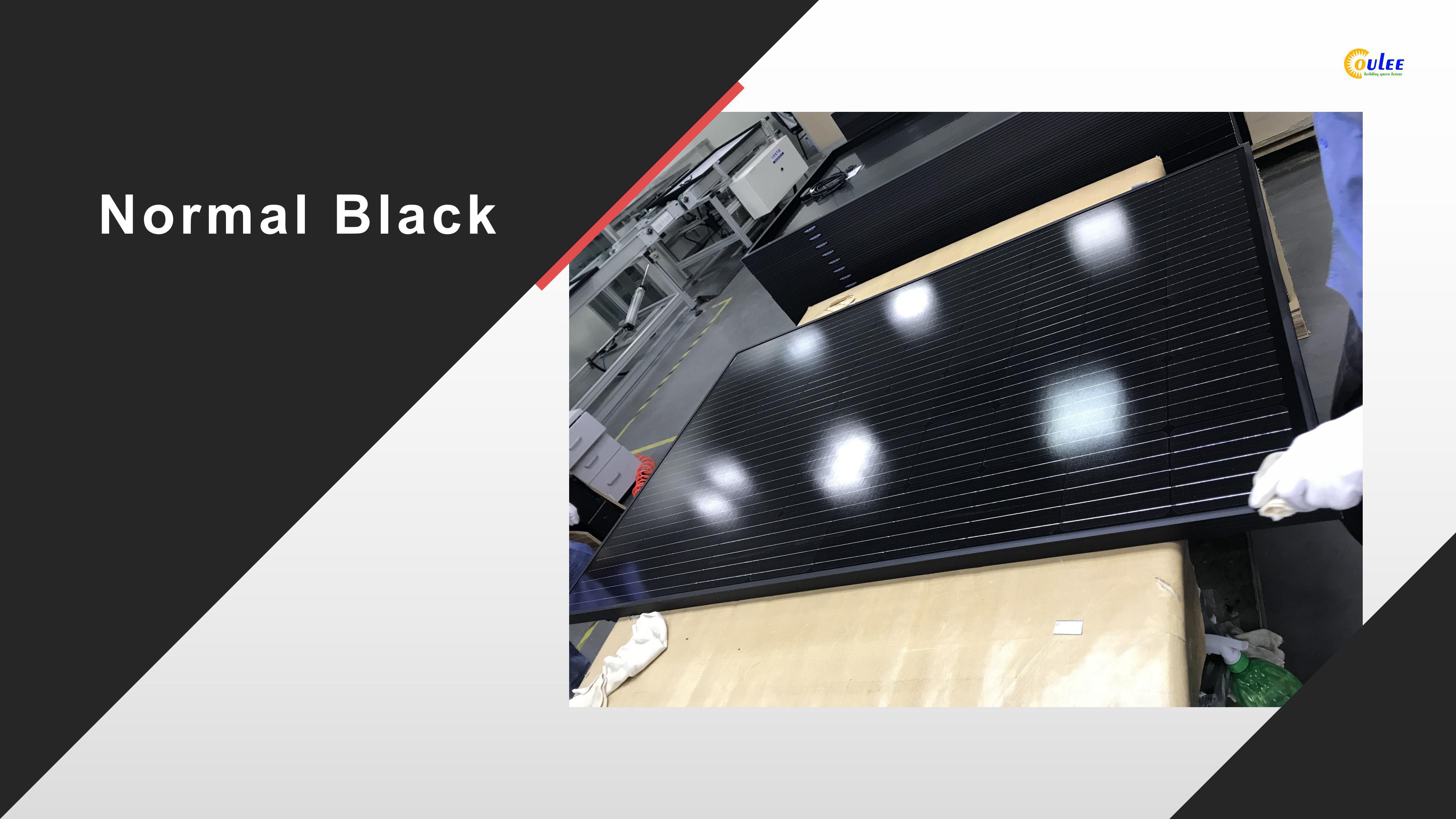 colored solar panels, full black solar panels
