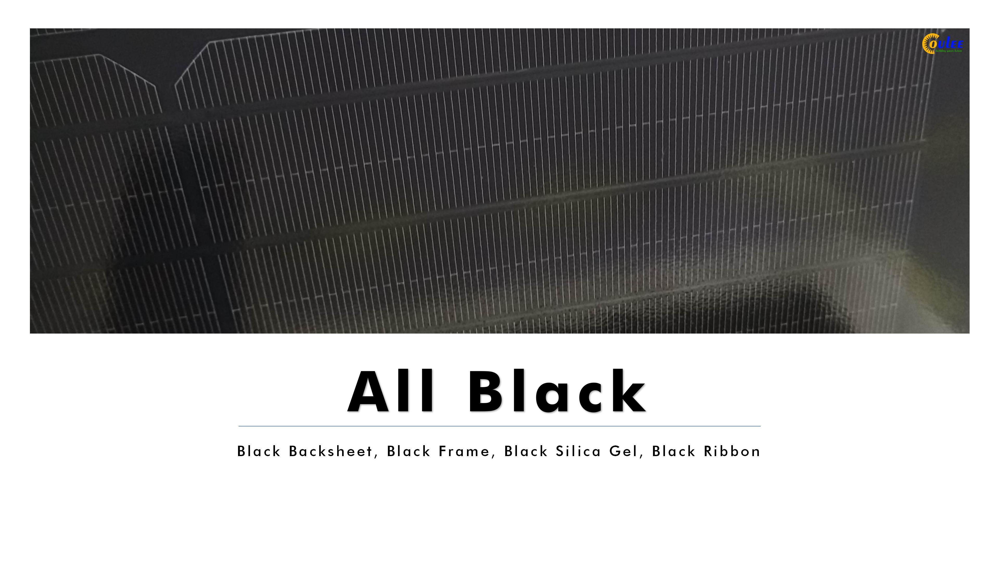 320W Full Black Solar Panel, 300Wp All Black Solar Panel