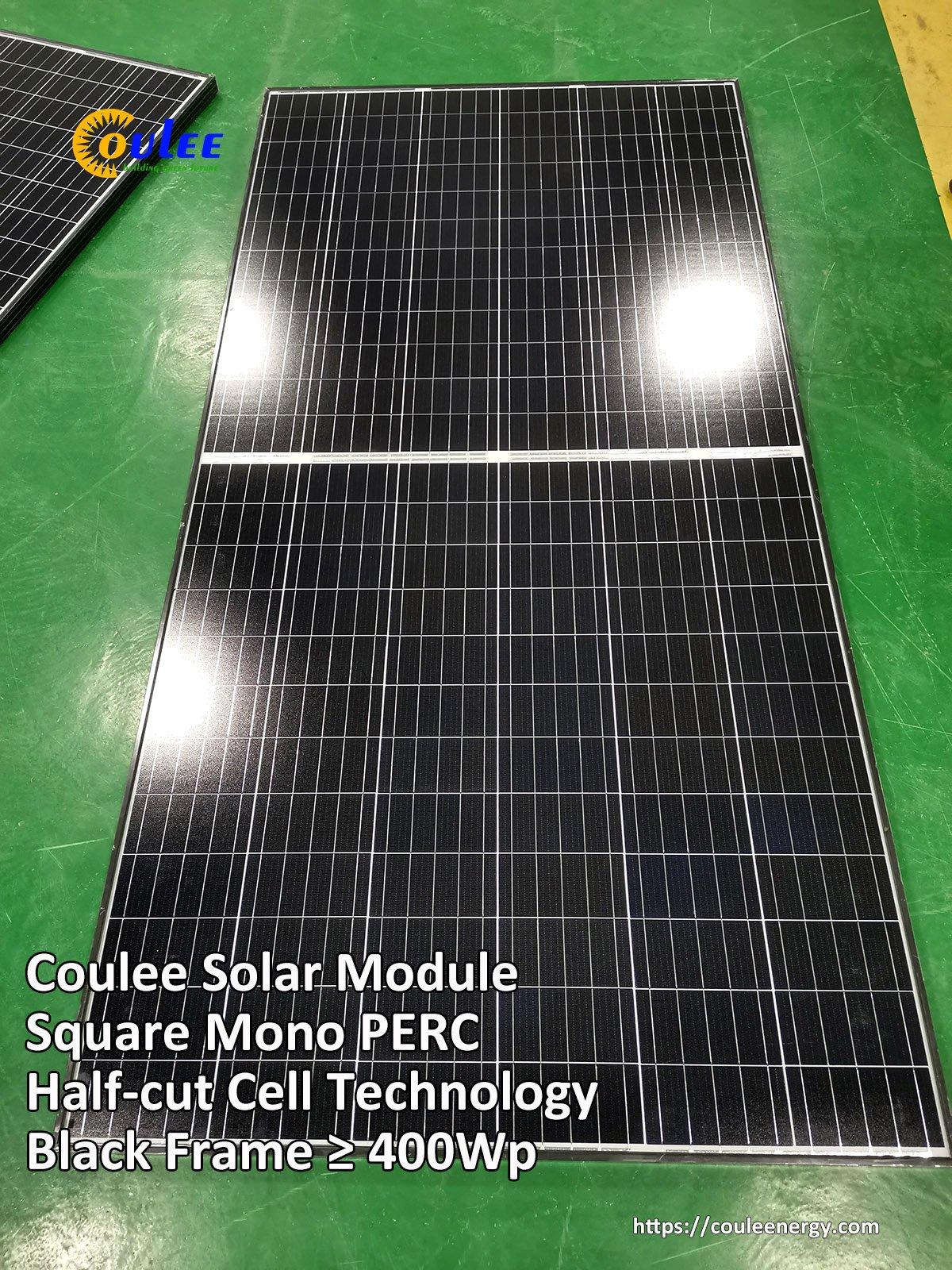 Black Frame Mono PERC Solar Module 400Wp