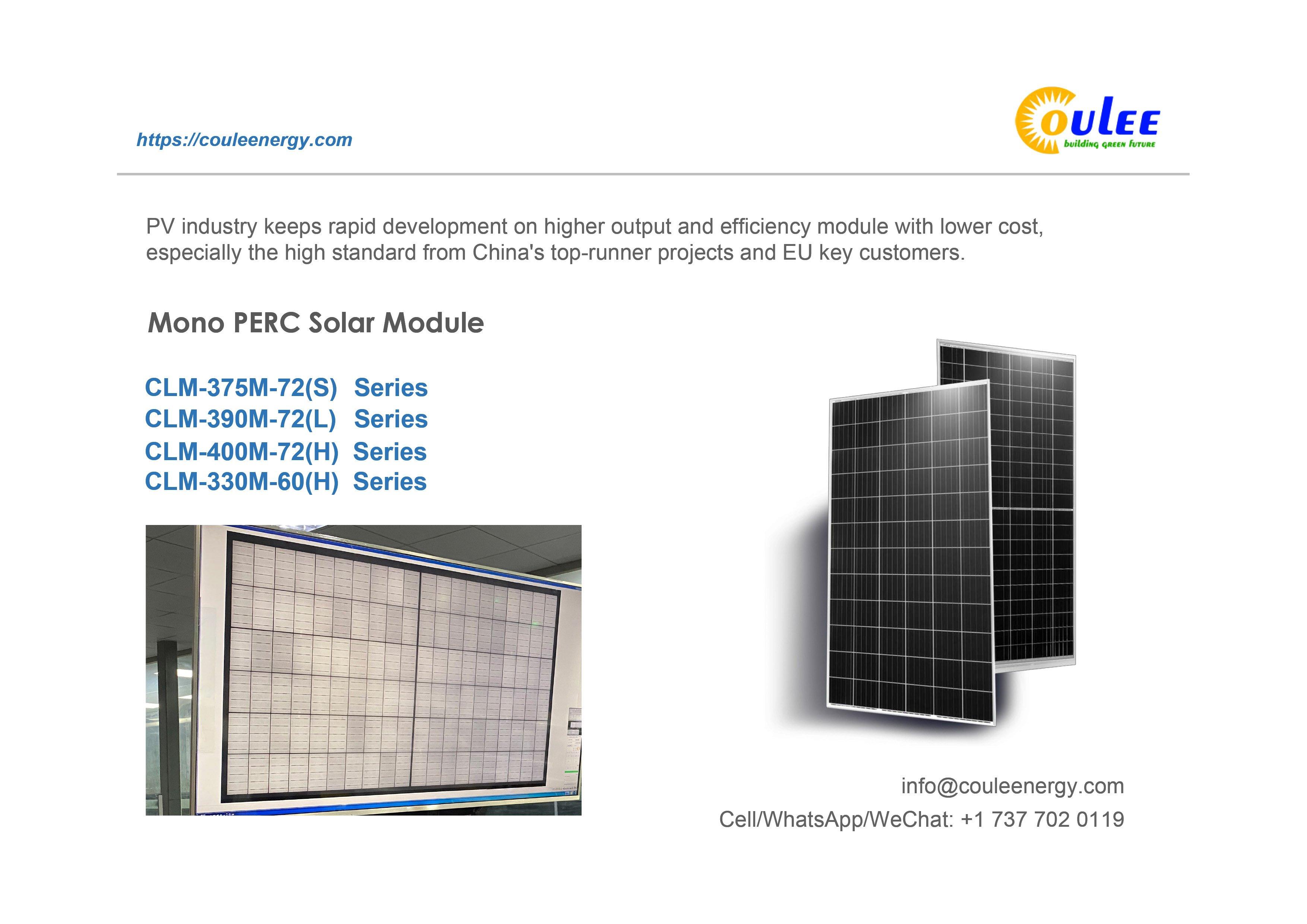 Half Cut Cell Solar Panel 330W, Split Cell Solar Panel 400Wp