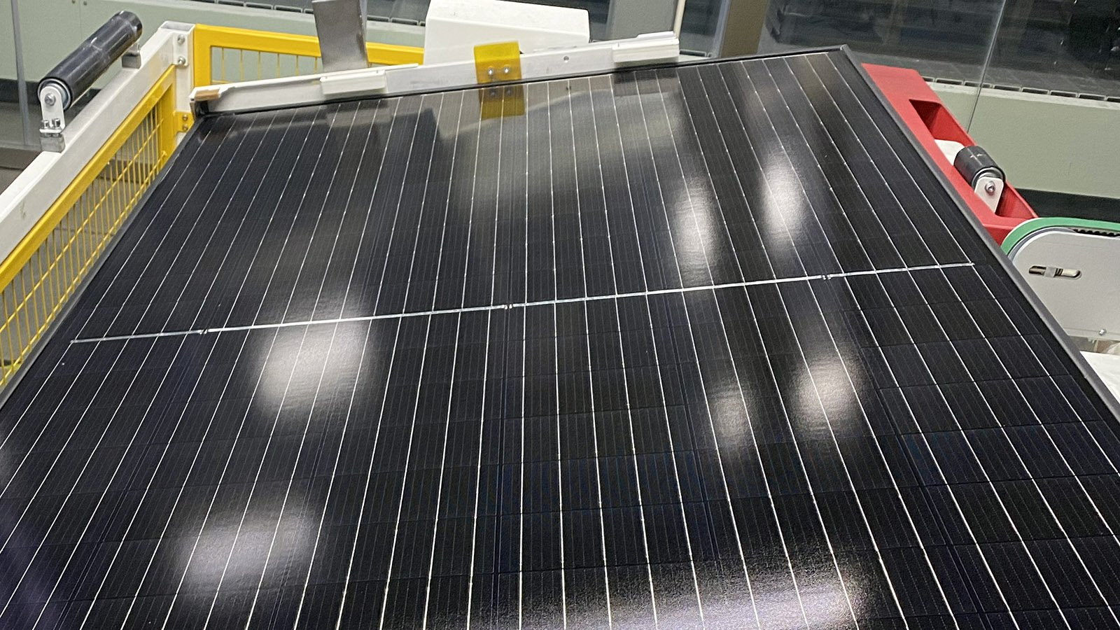 Production for half cut cell solar panels