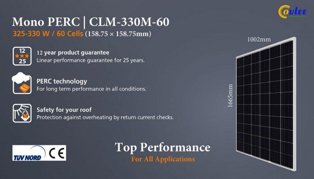 jinko 330w mono, longi solar full black