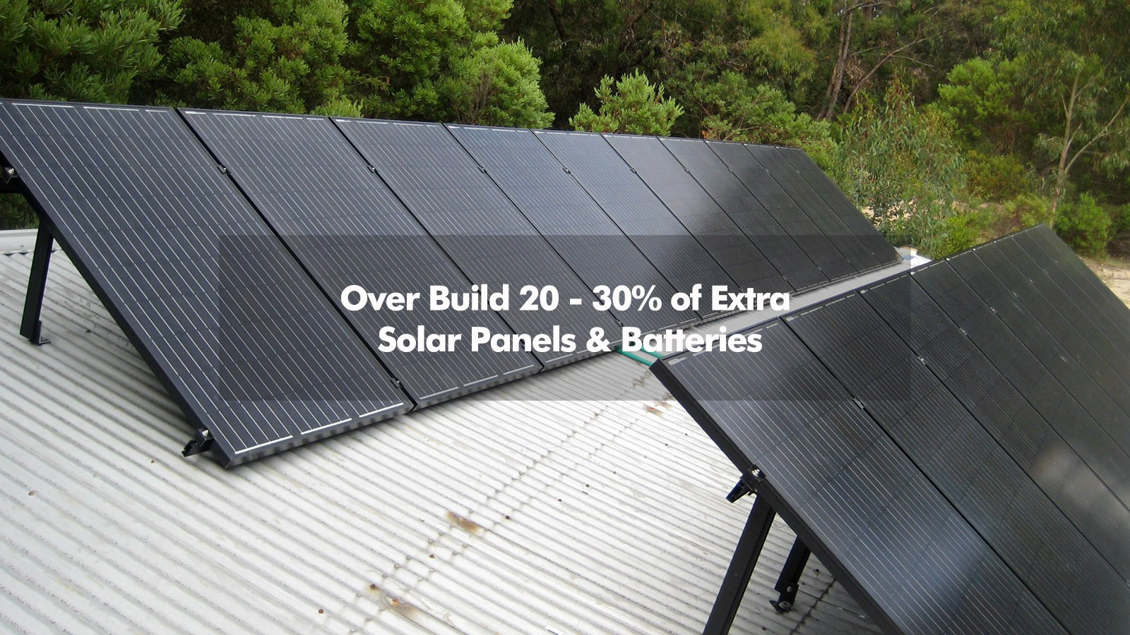 over build off-grid solar systems