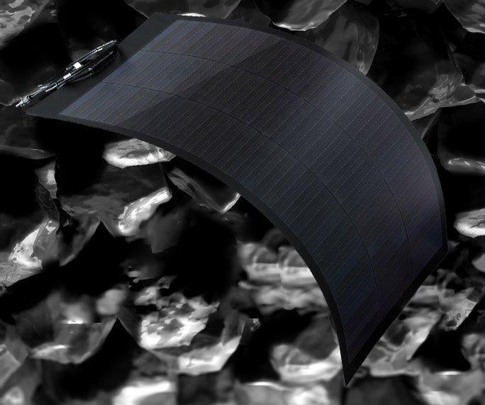 semi-flexible solar panel