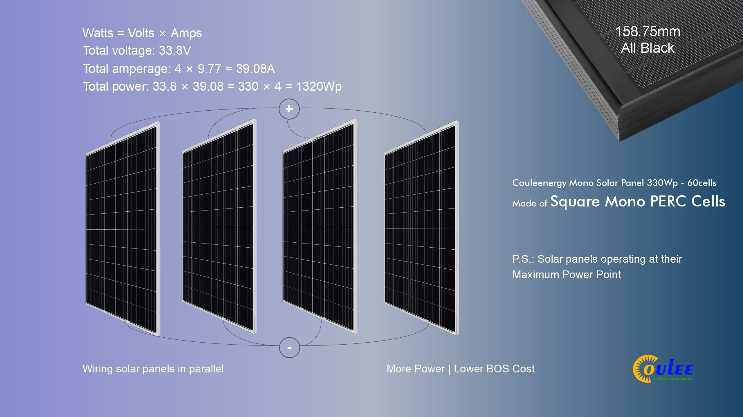 solar panels in parallel