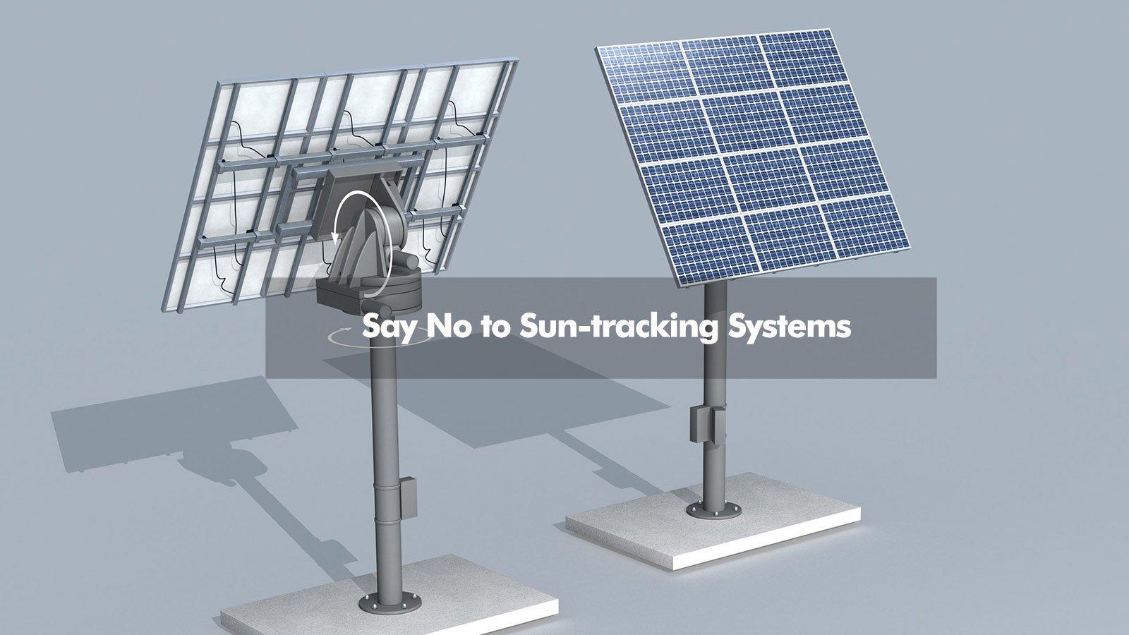 sun tracking off grid solar system
