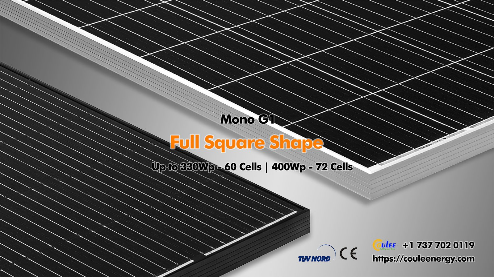 Monocrystalline PV Panels 400Wp