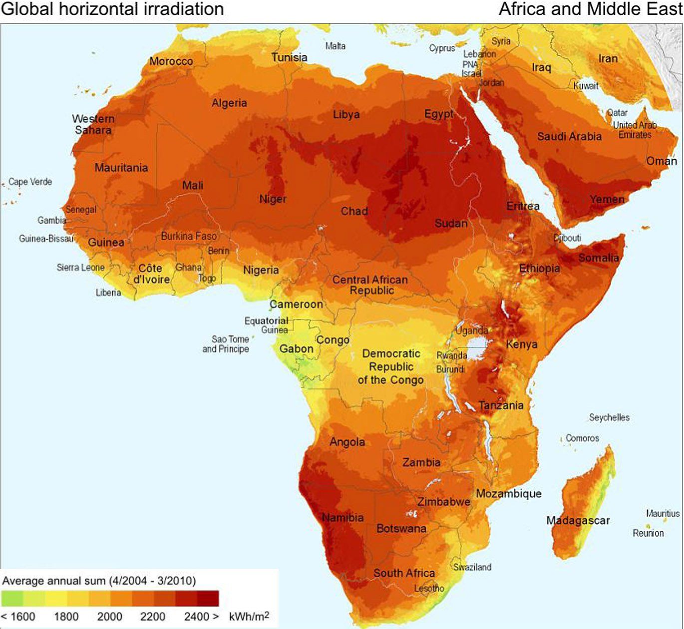 Africa Solar Irradiance