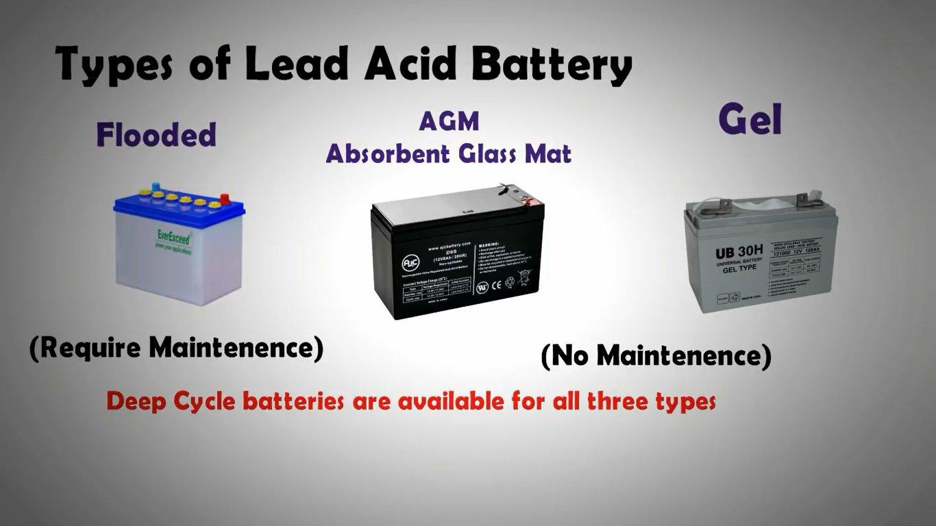 types of lead acid batteries