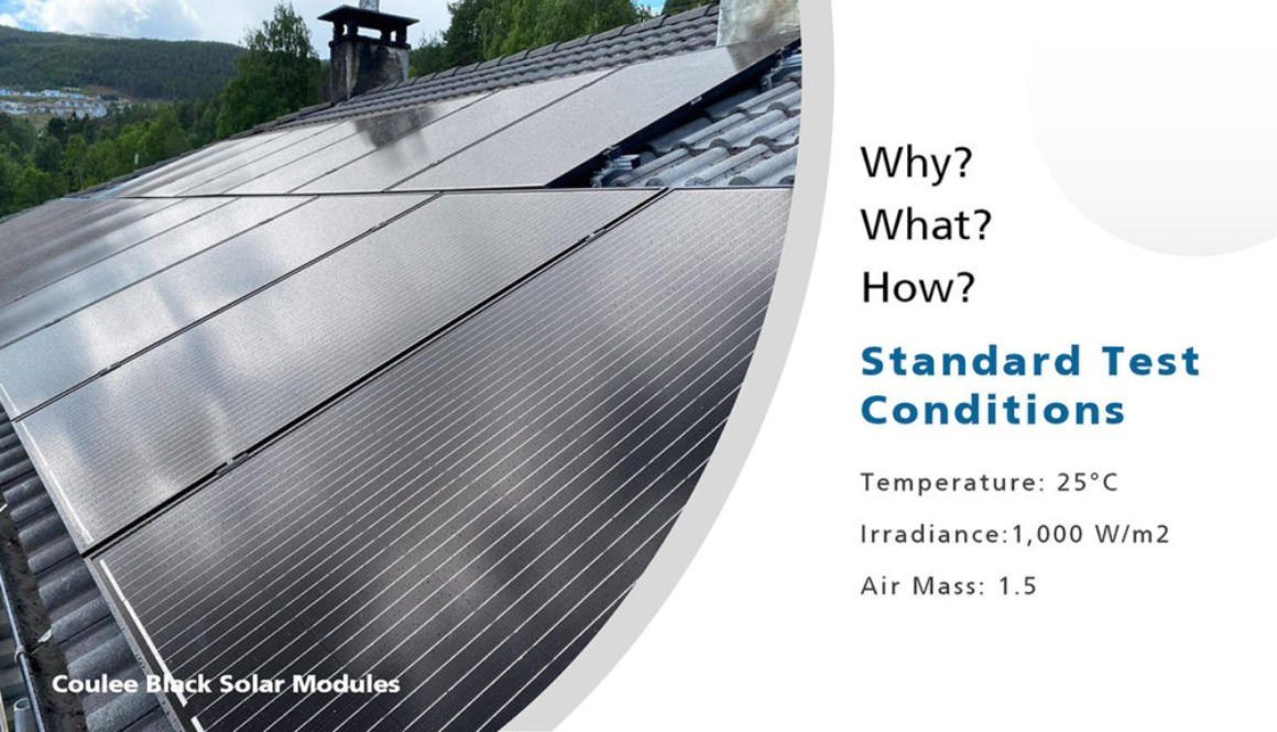What is the stand test conditions of solar panels